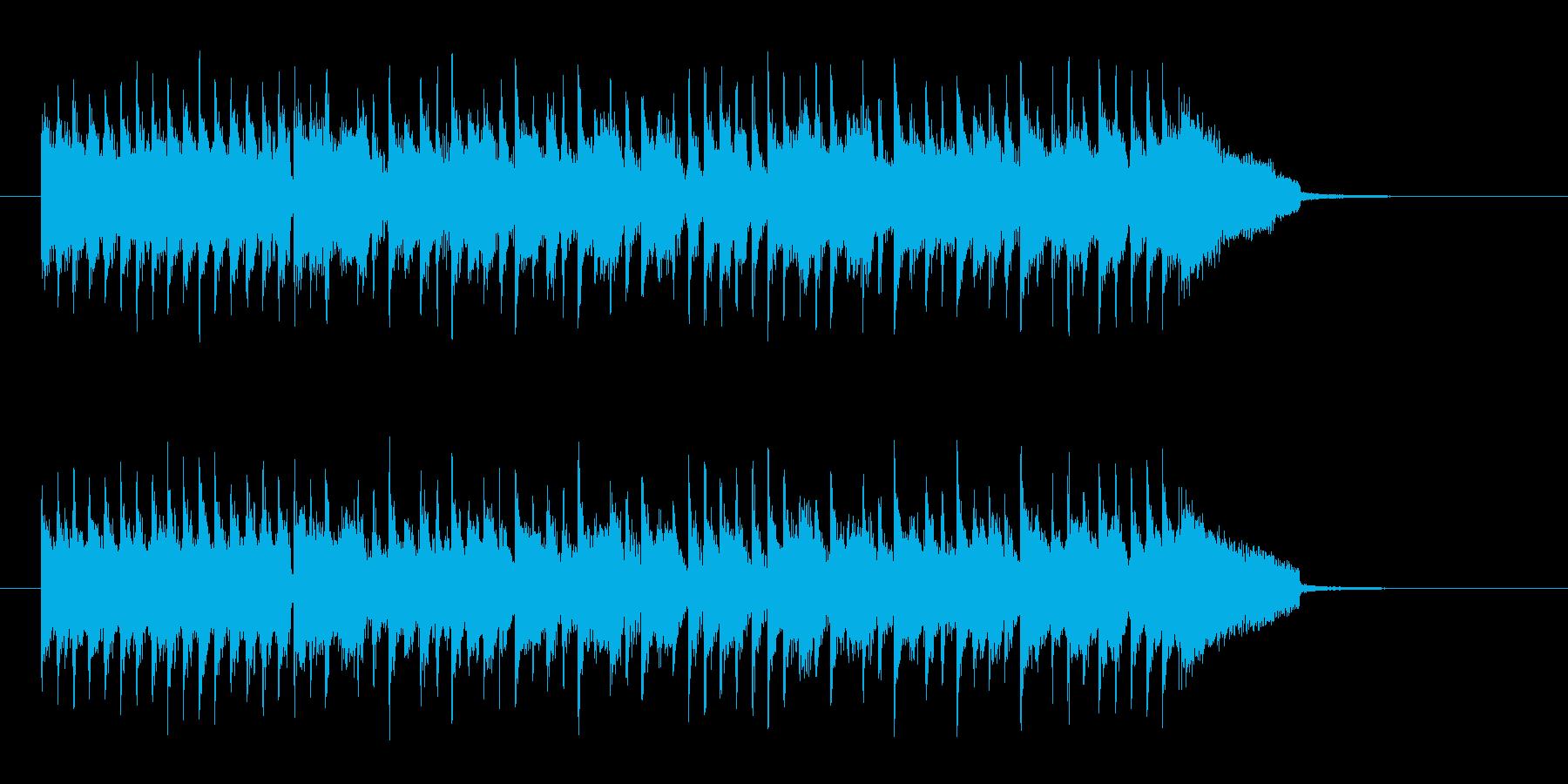 爽快なイメージのギターロックの再生済みの波形