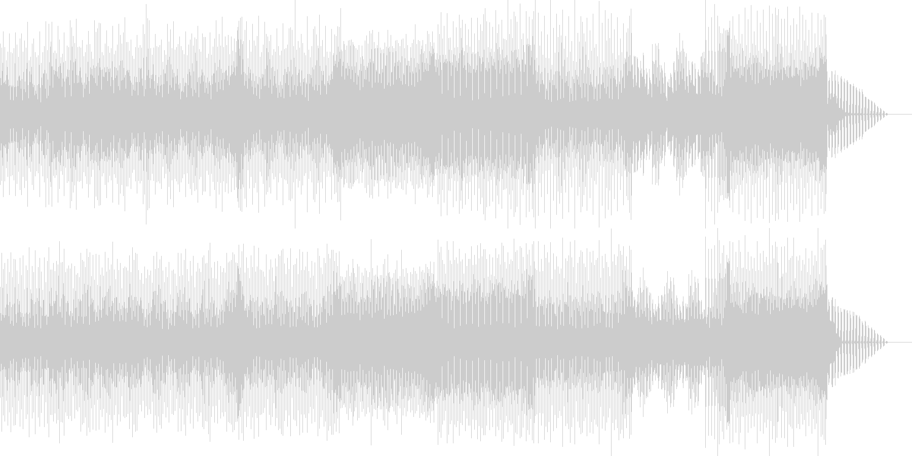 明るく爽やかなEDM系のBGMの未再生の波形