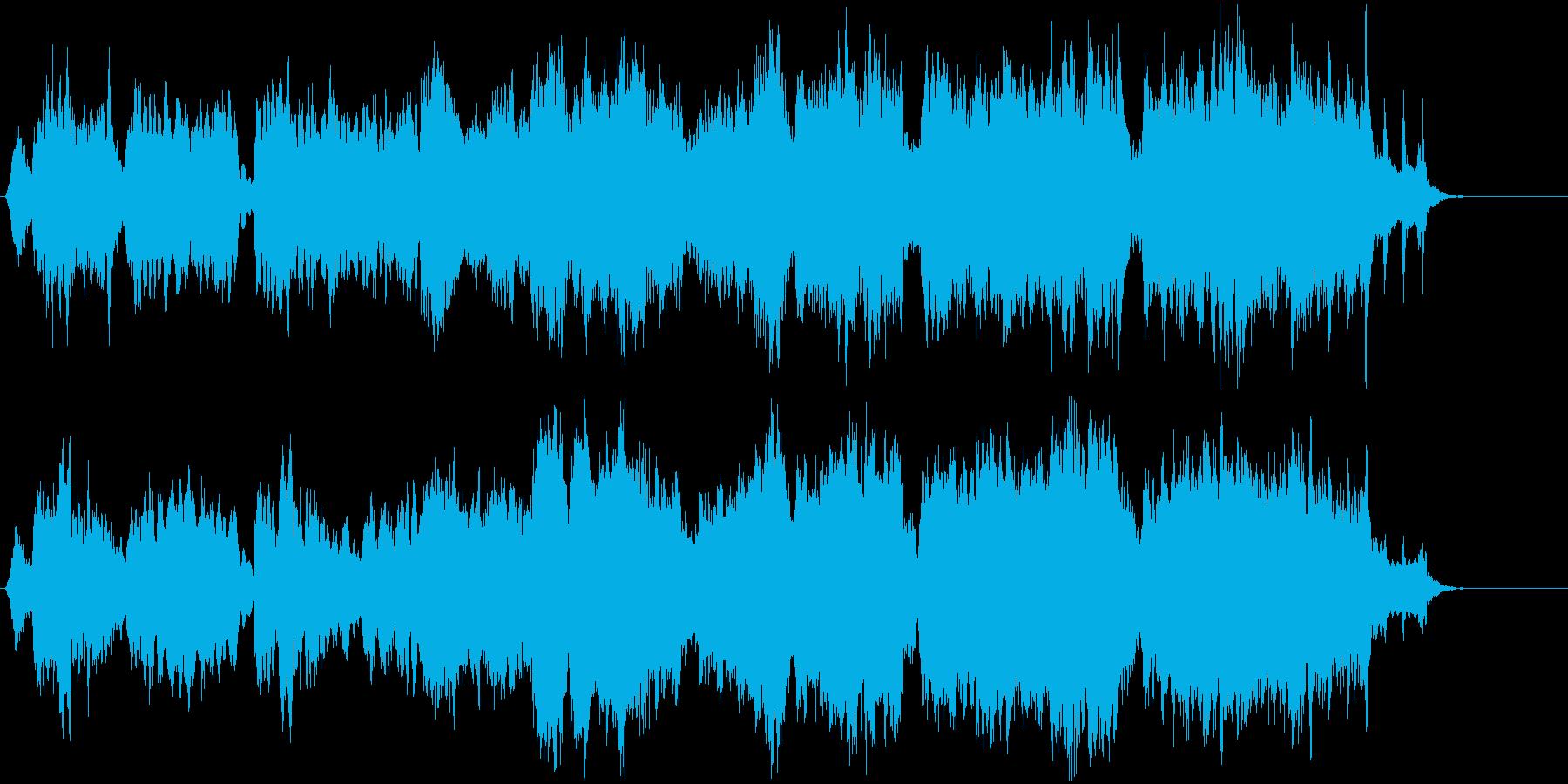 神秘的で謎めいたフャンタジーオーケストラの再生済みの波形