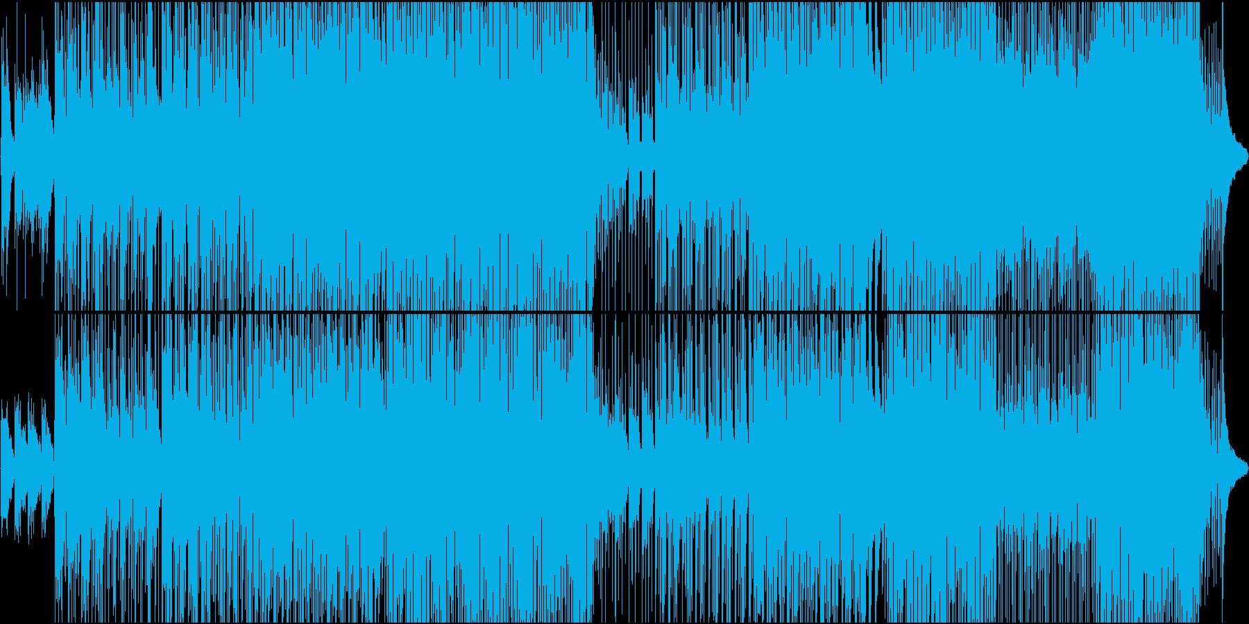 アコースティックな和風メロディ楽曲の再生済みの波形