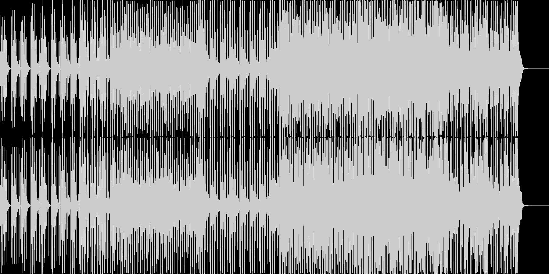 テンポ遅めのクールなピアノハウスの未再生の波形