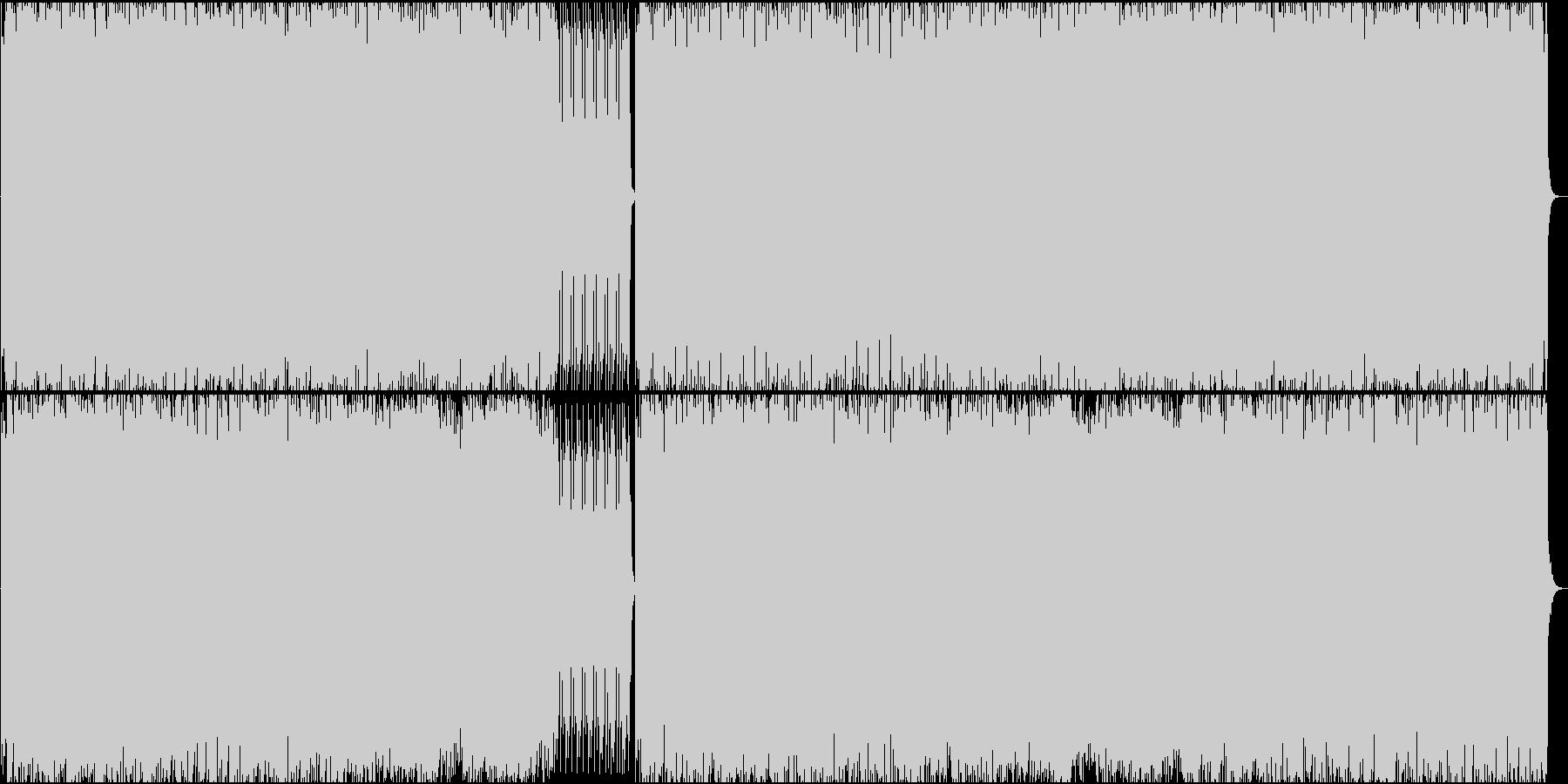 歪んだベースが印象的なテクノ♪の未再生の波形