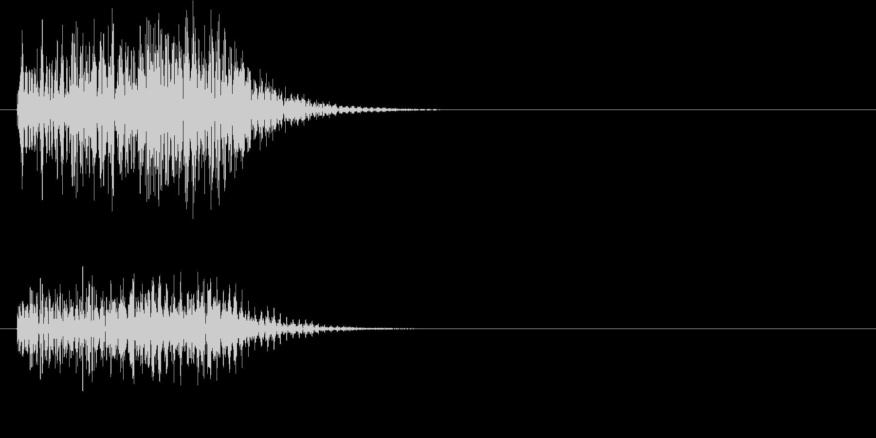 ゲームなどのキャンセル音の未再生の波形