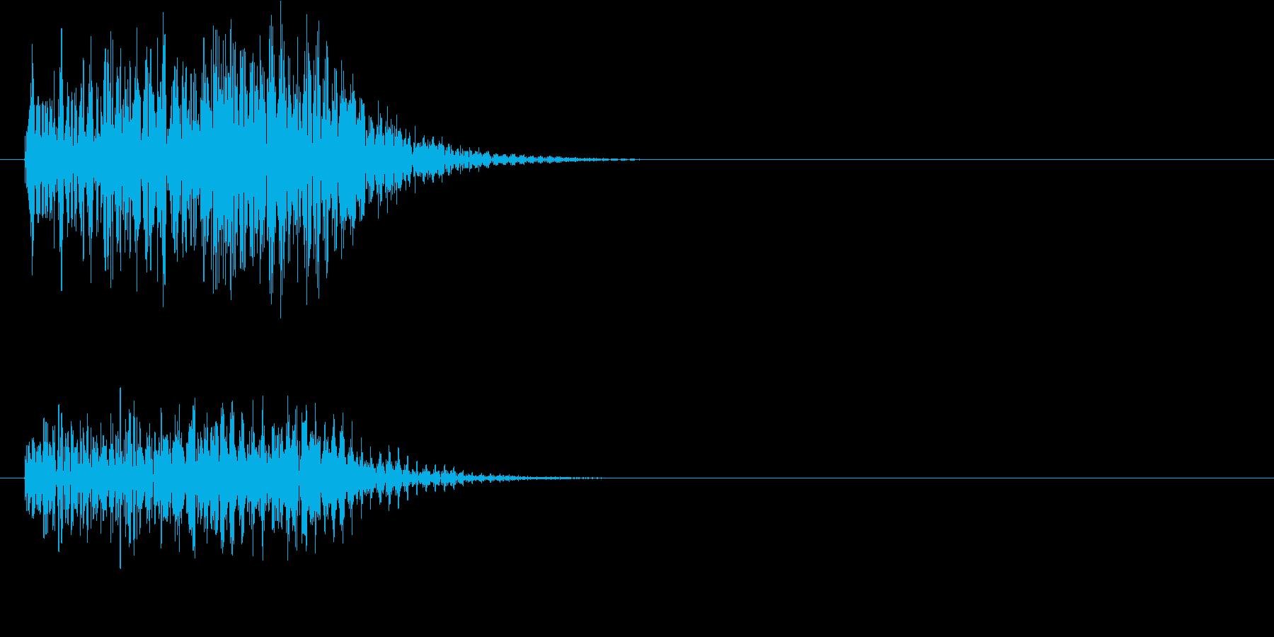 ゲームなどのキャンセル音の再生済みの波形
