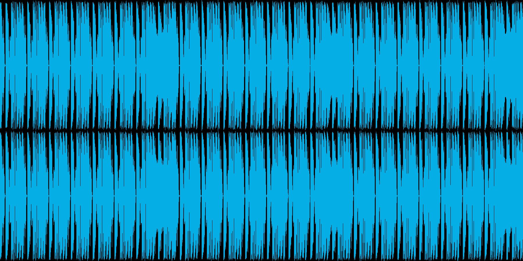 可愛いアップテンポなテクノポップの再生済みの波形