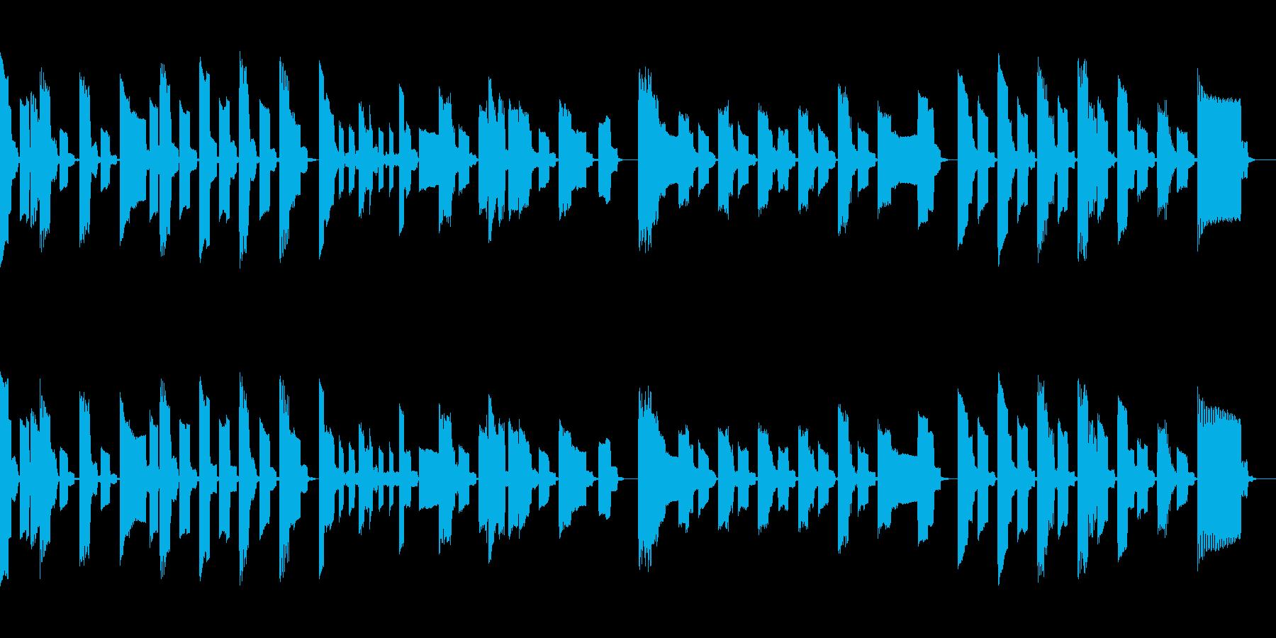 ファミコンサウンドでサウンドでほのぼのの再生済みの波形