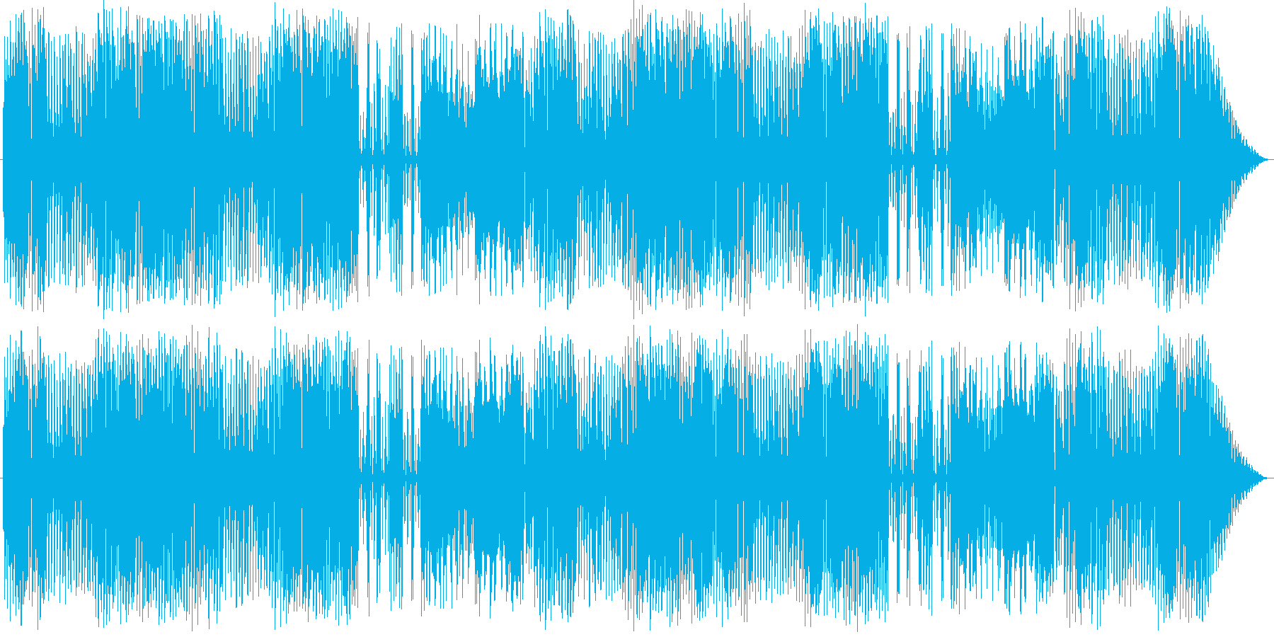 リコーダーやピアニカを使った可愛い曲の再生済みの波形