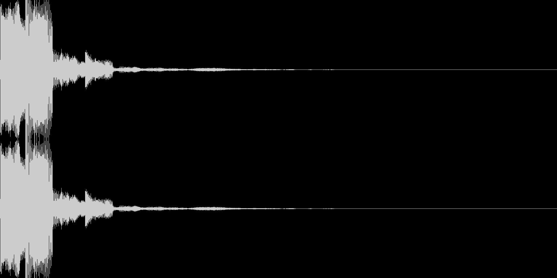 電子音(ピコ)の未再生の波形