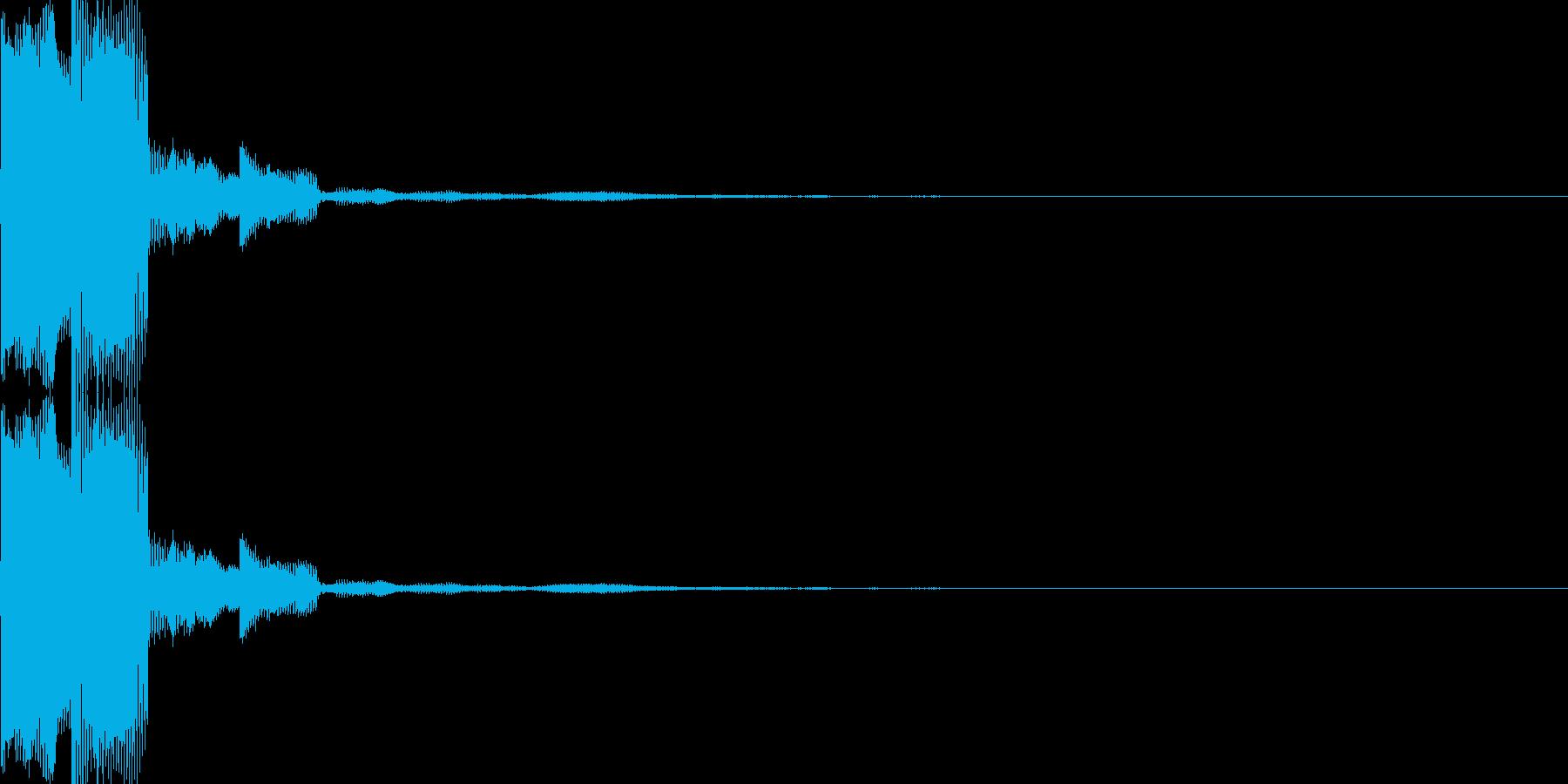 電子音(ピコ)の再生済みの波形