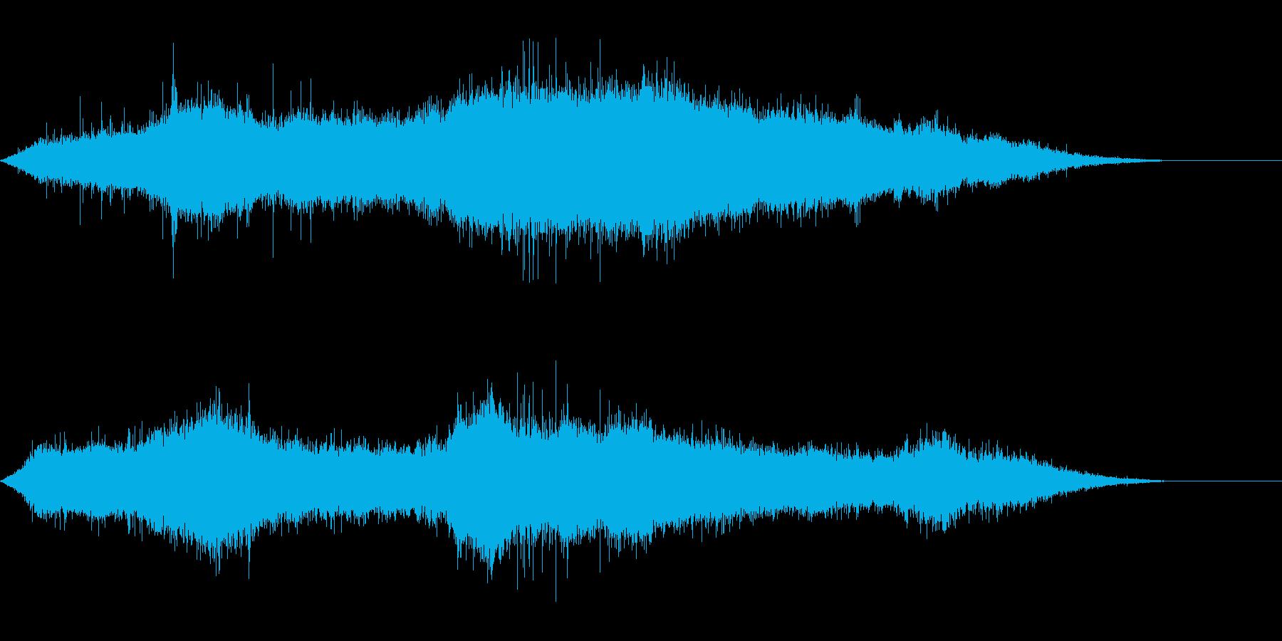 台風の背景音にの再生済みの波形
