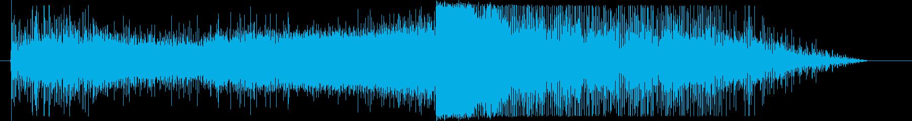 宇宙船ワープ音の再生済みの波形