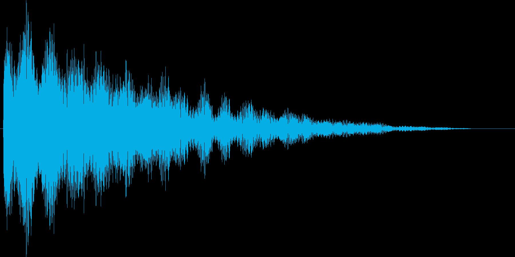 お寺の鐘の音(ゴーン...)の再生済みの波形