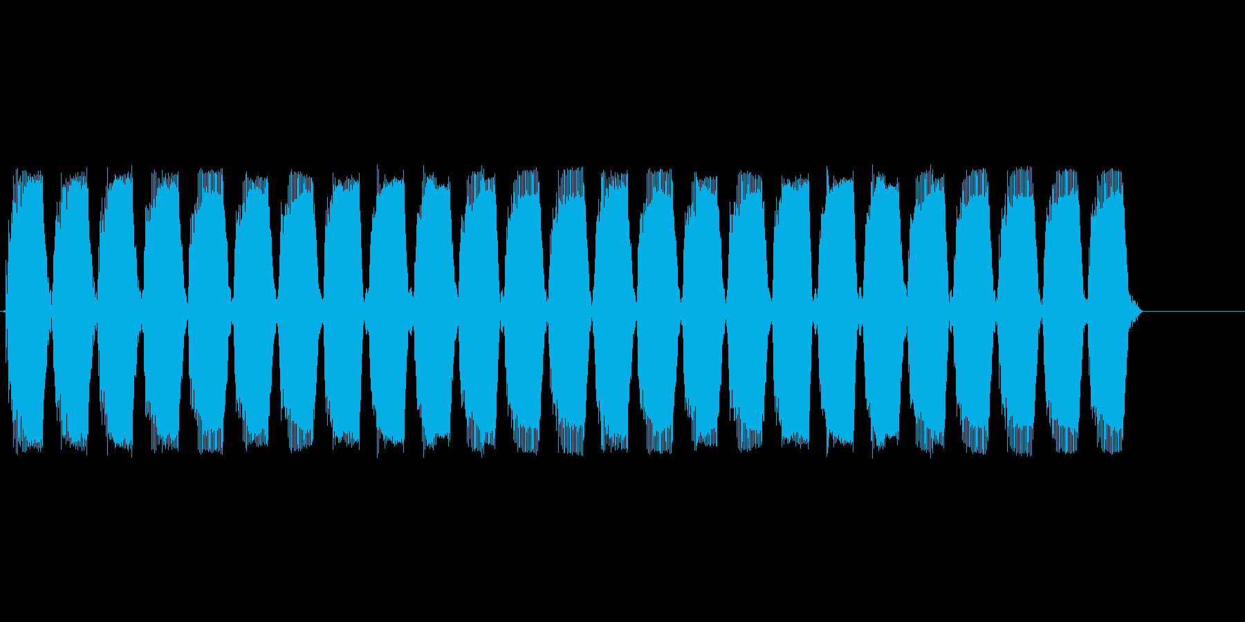 ぶーぶーぶー(バイブ音)の再生済みの波形