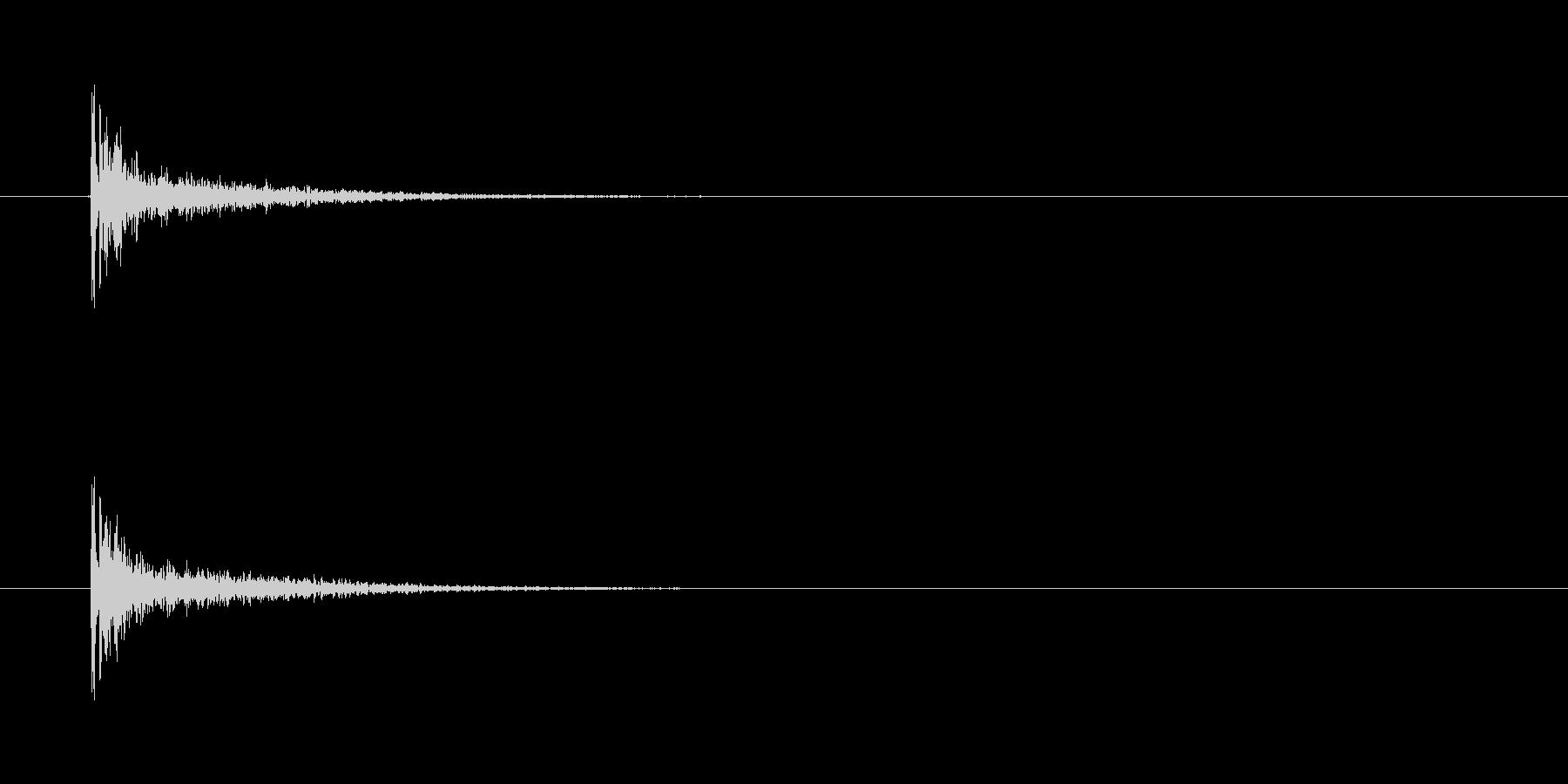 【カスタネット01-8】の未再生の波形