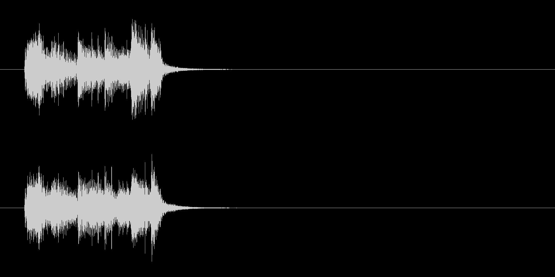 ジングル(エンディング向)の未再生の波形