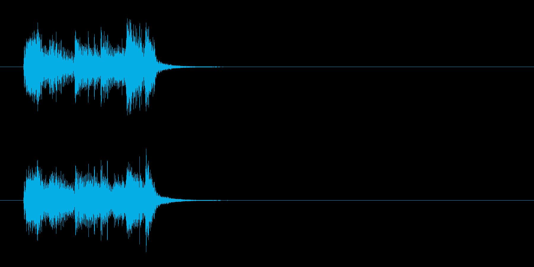 ジングル(エンディング向)の再生済みの波形