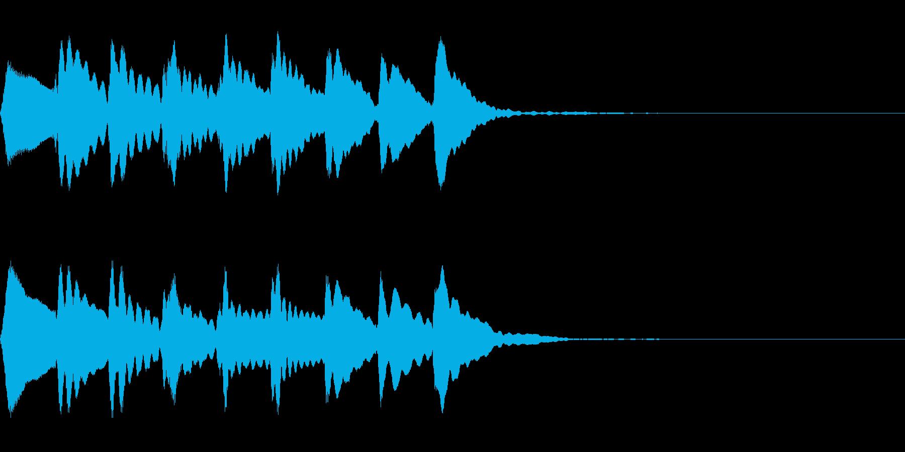 マリンバの上昇音の再生済みの波形