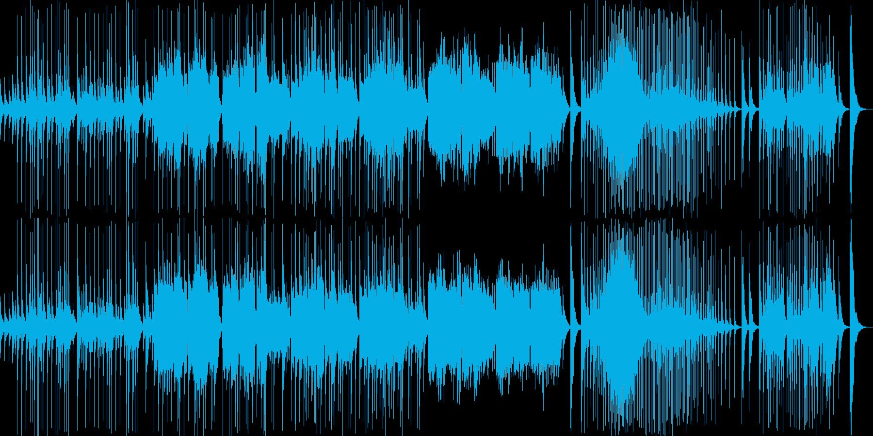 伝統的な日本音楽の再生済みの波形