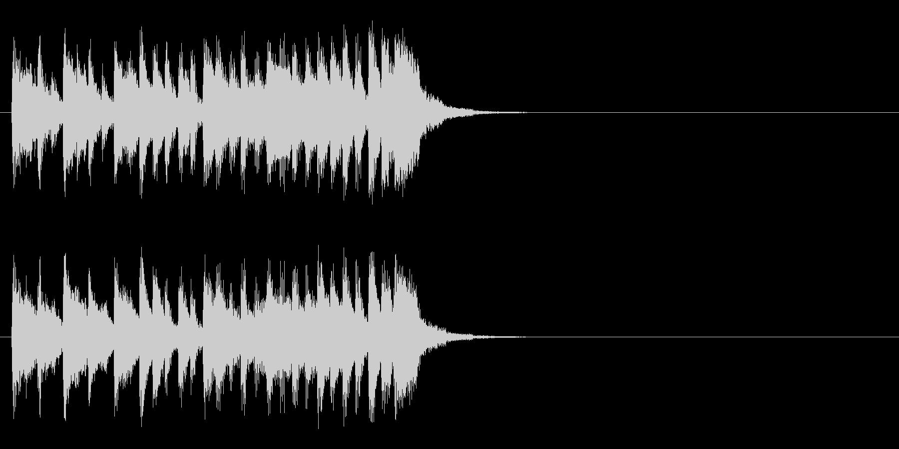 情報コーナー風元気なジングルの未再生の波形