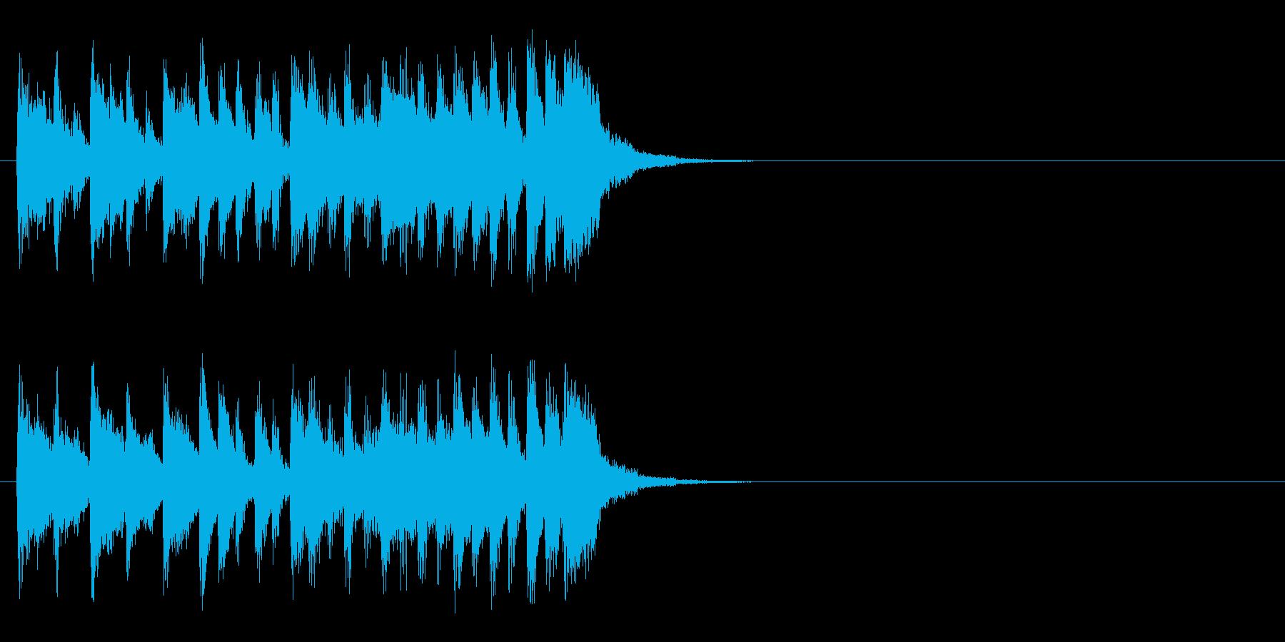 情報コーナー風元気なジングルの再生済みの波形