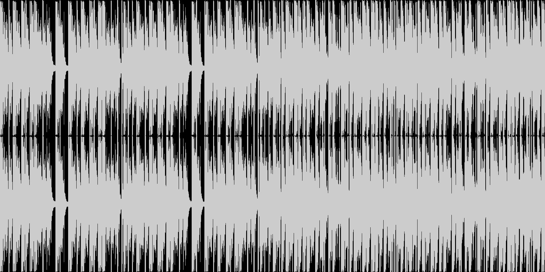 ダンジョンっぽいBGMの未再生の波形