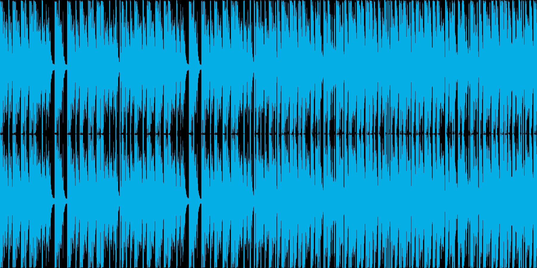 ダンジョンっぽいBGMの再生済みの波形