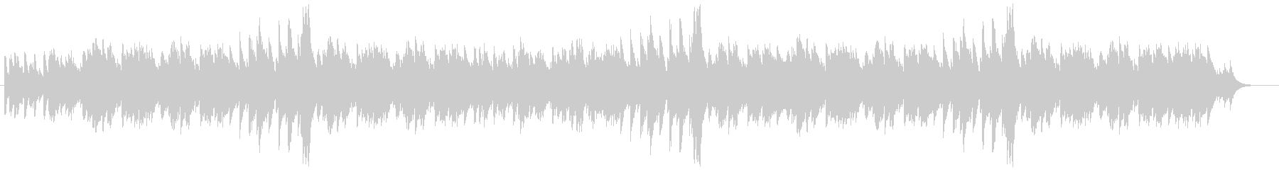 ポップでキャッチ―なオルゴール風サウンドの未再生の波形