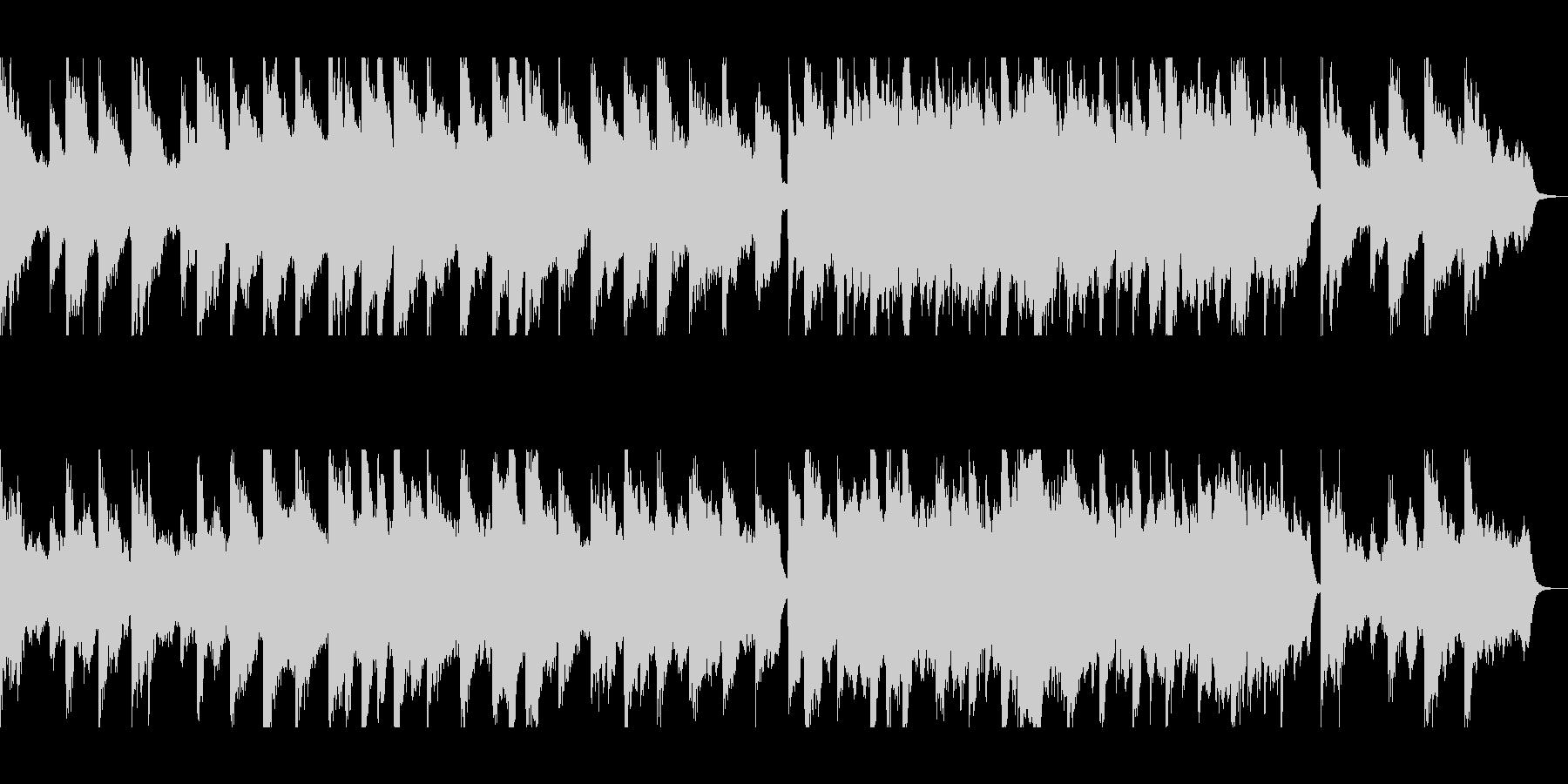 ピアノとシンセの幻想的なバラードの未再生の波形