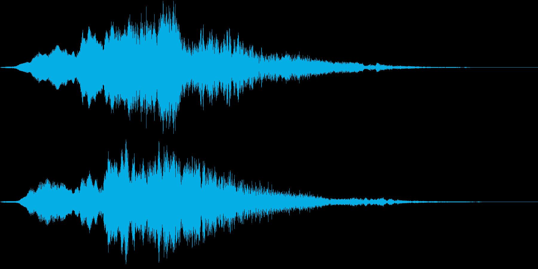 疑惑/怪奇音/怪奇現象SEの再生済みの波形