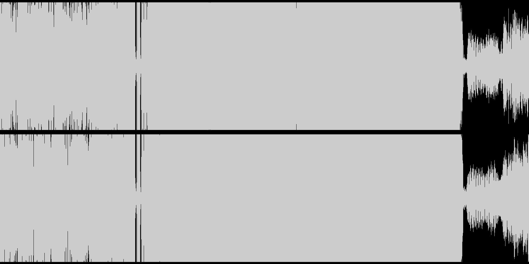 重低音の効いたアジアンHIPHOPループの未再生の波形