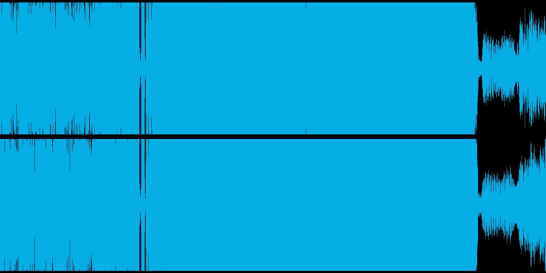 重低音の効いたアジアンHIPHOPループの再生済みの波形