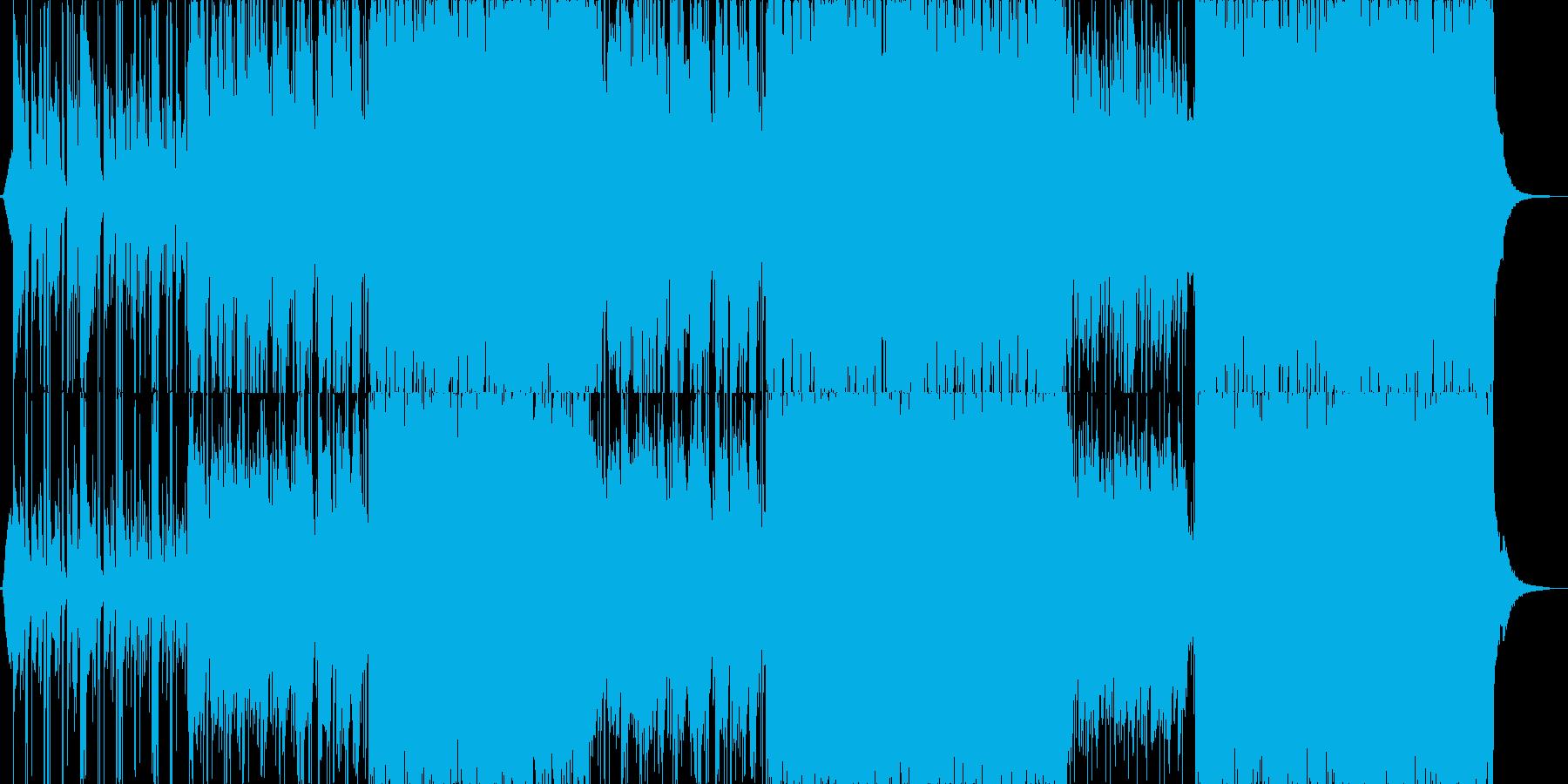 透明感のある和風、和楽器BGM B2の再生済みの波形