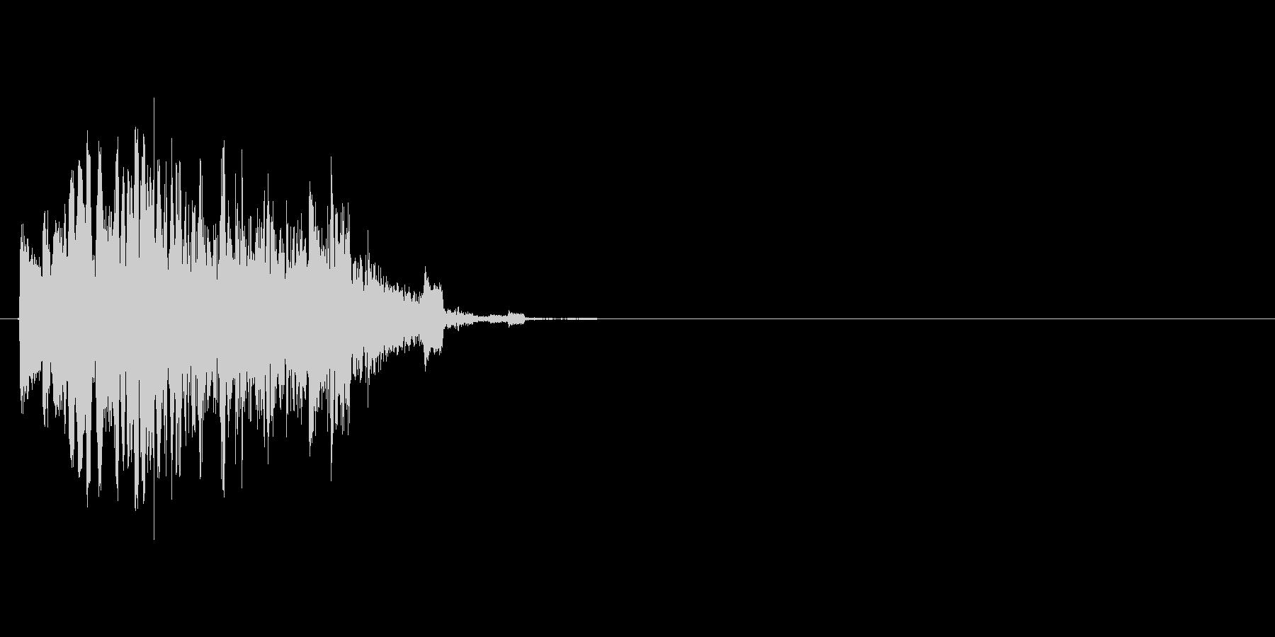 動画の場面転換などに使える効果音の未再生の波形