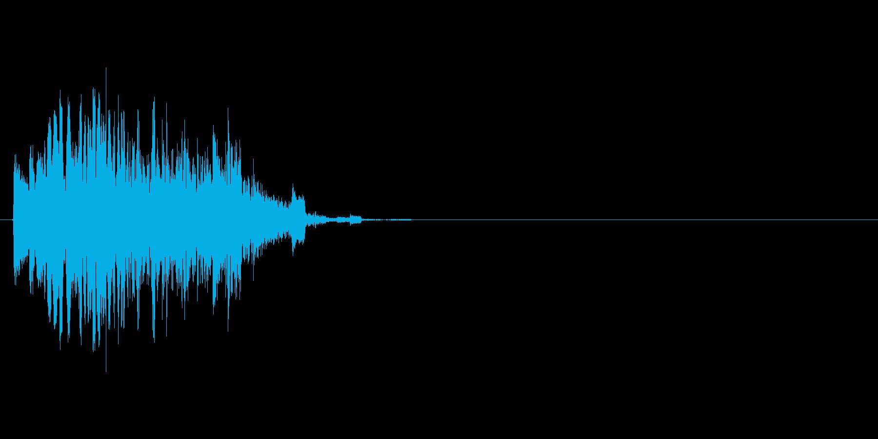 動画の場面転換などに使える効果音の再生済みの波形