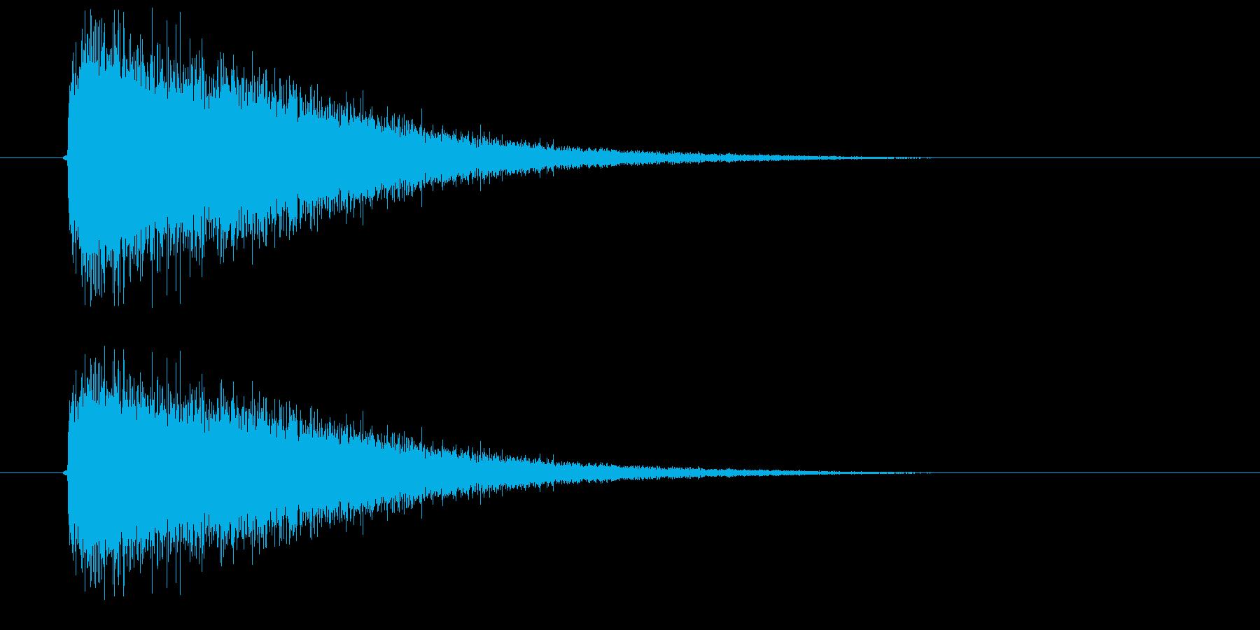 ジャーーン!(高音のシンバル音)の再生済みの波形
