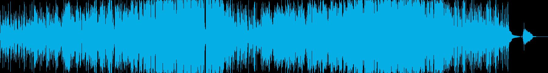 穏やかな優しいフォークソングの再生済みの波形