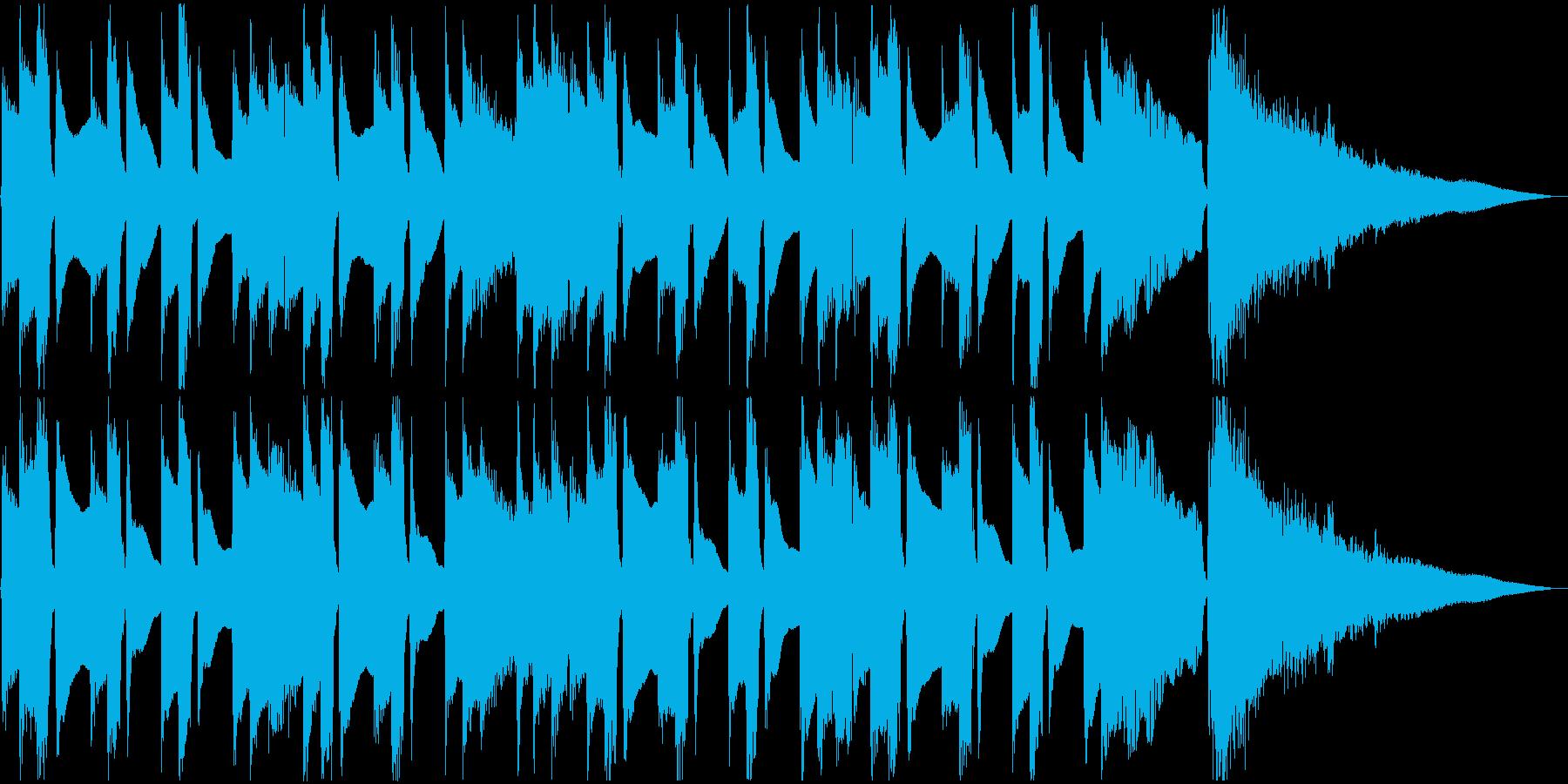 穏やかで温かいアコギジングルの再生済みの波形