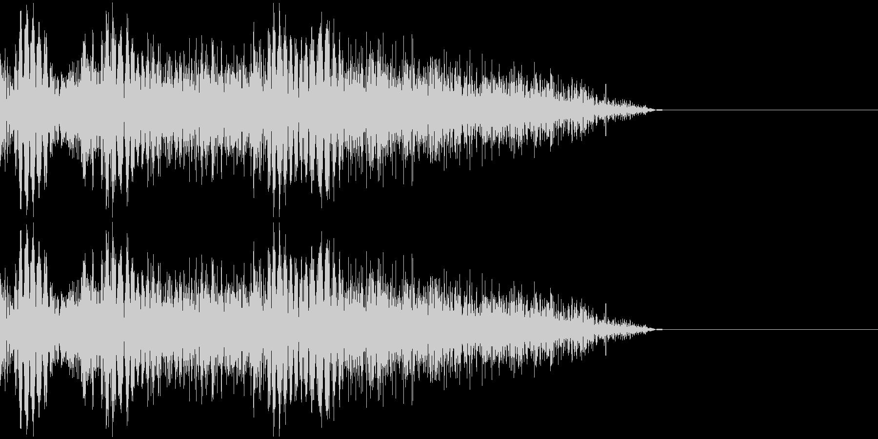 パンチ音(3連発)の未再生の波形
