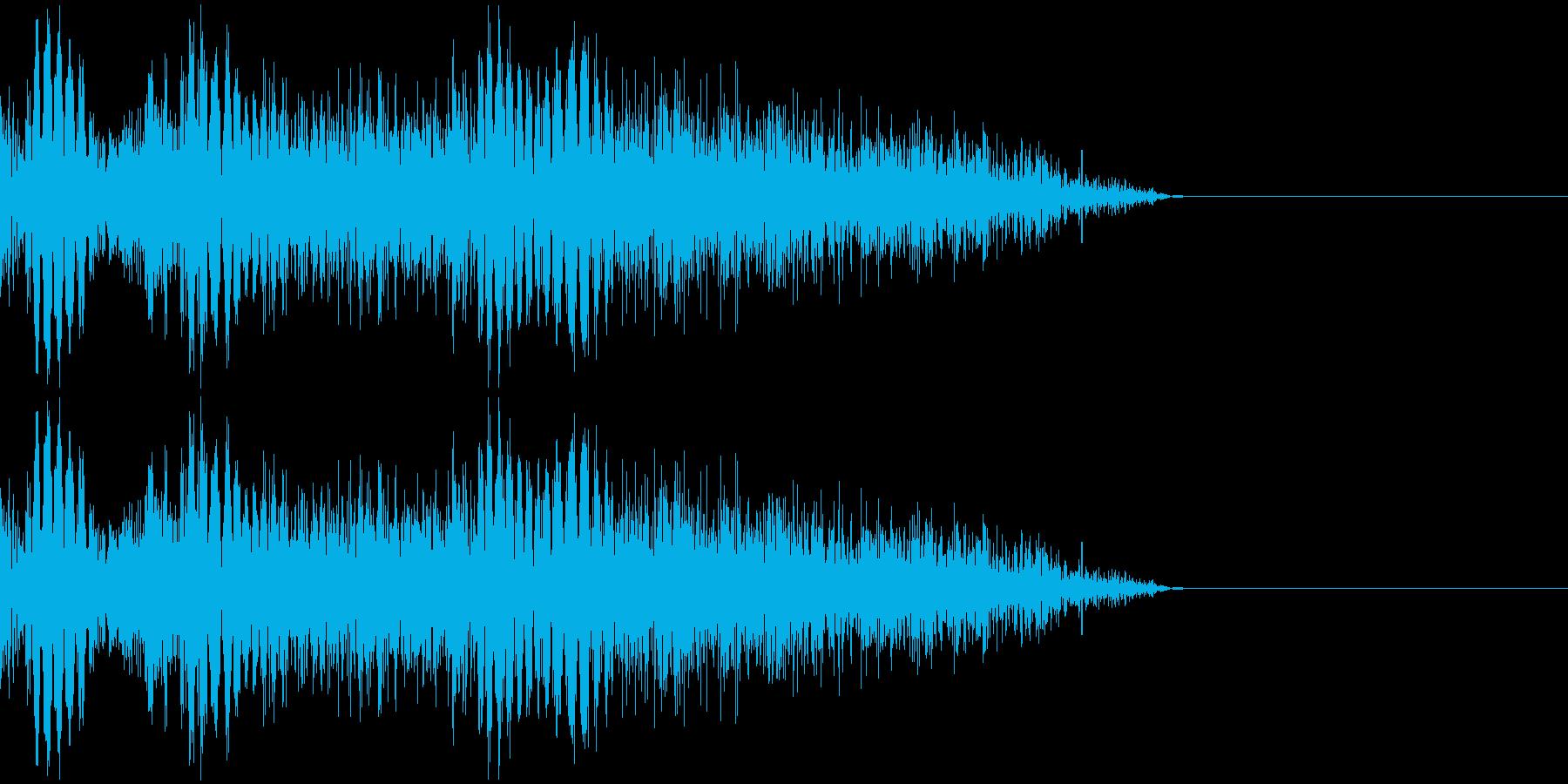 パンチ音(3連発)の再生済みの波形