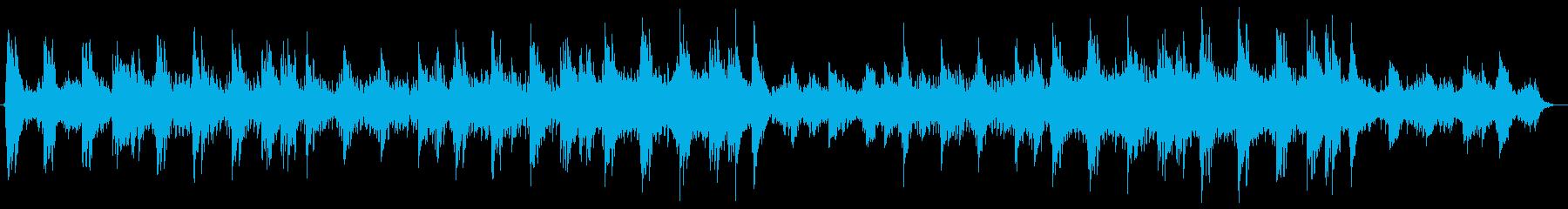 神秘的なピアノメロディーの再生済みの波形