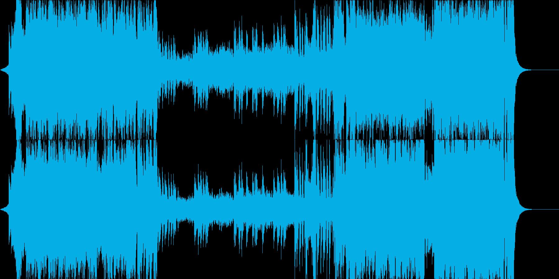 華やかに旅立つ音、安い音源バージョンの再生済みの波形