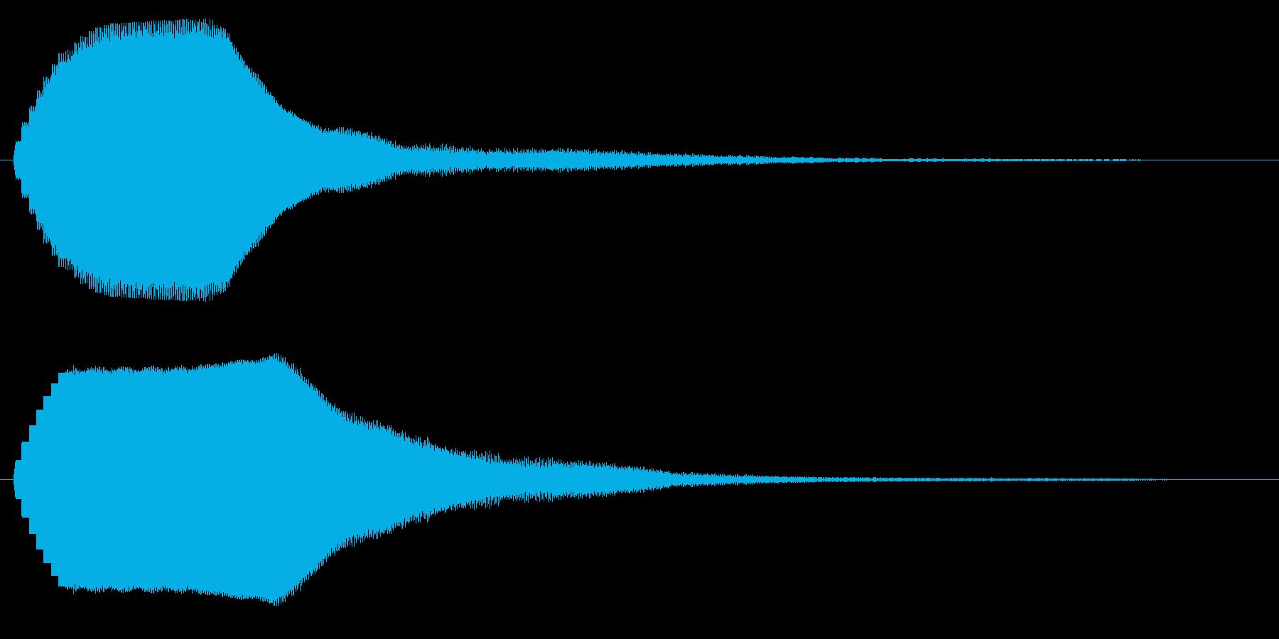 キーンという短い金属音の再生済みの波形