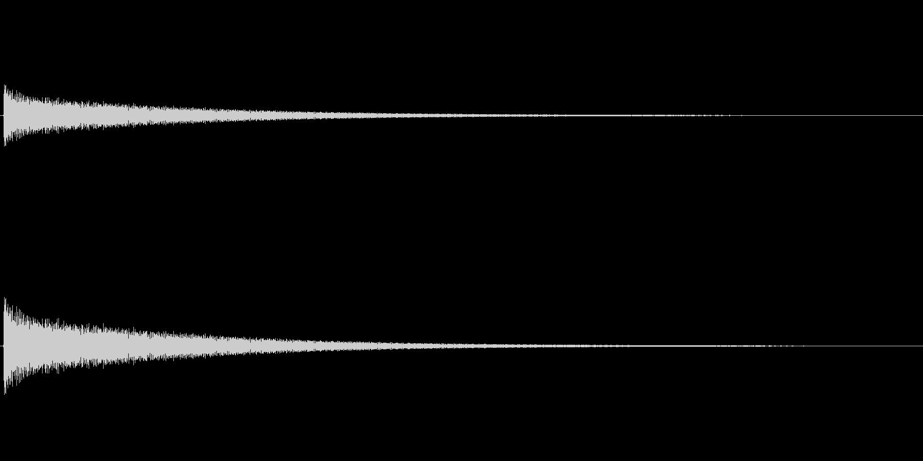 カーン(チーン)/チューブラベルの残念音の未再生の波形
