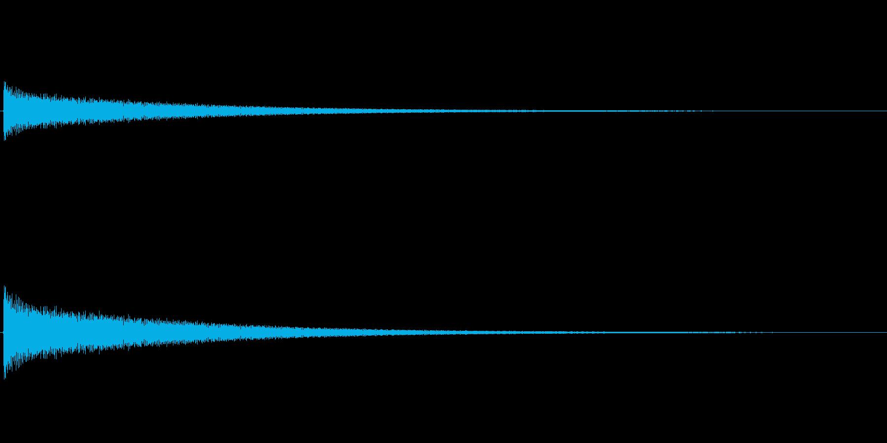 カーン(チーン)/チューブラベルの残念音の再生済みの波形