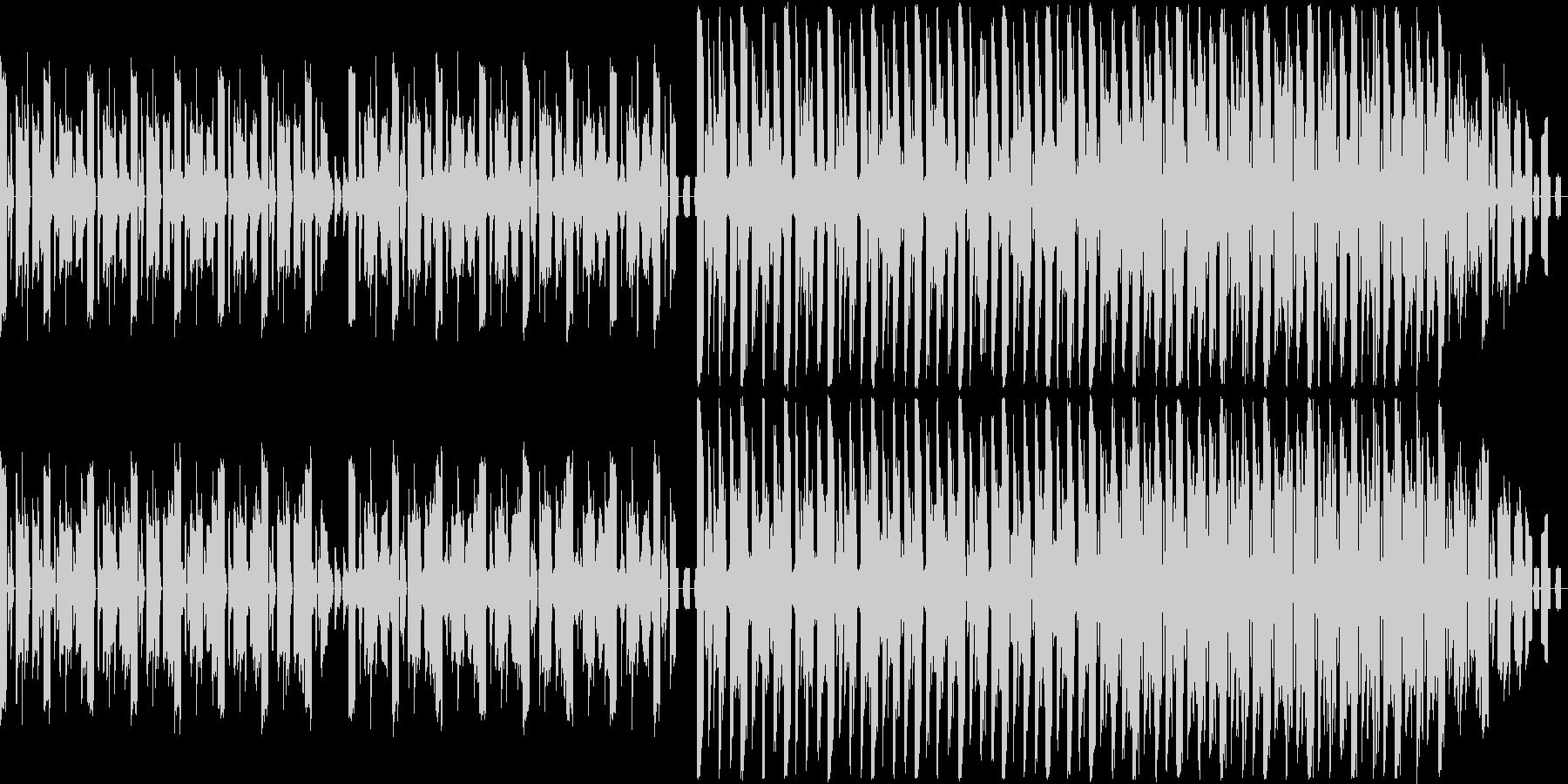 渦巻きにのまれたような感覚の楽曲の未再生の波形