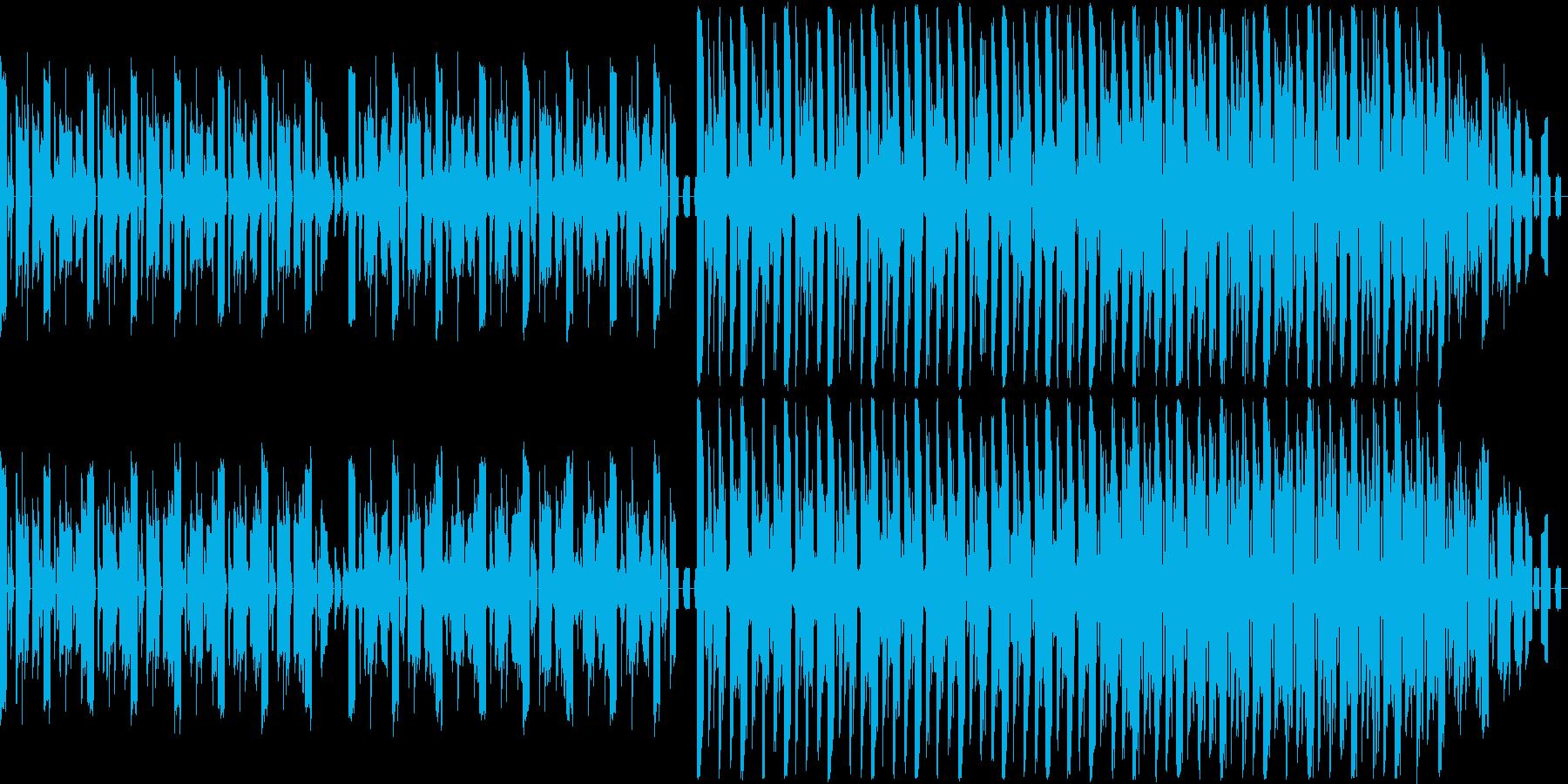 渦巻きにのまれたような感覚の楽曲の再生済みの波形