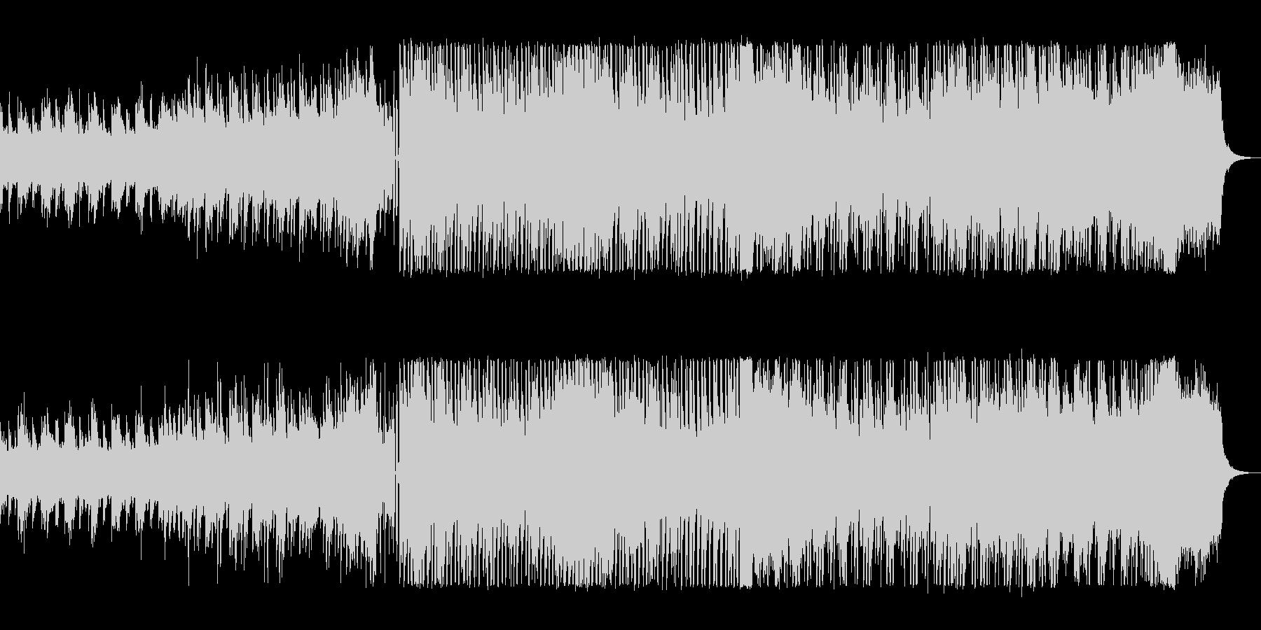 キラキラしたテクノのシンセサイザーの曲の未再生の波形