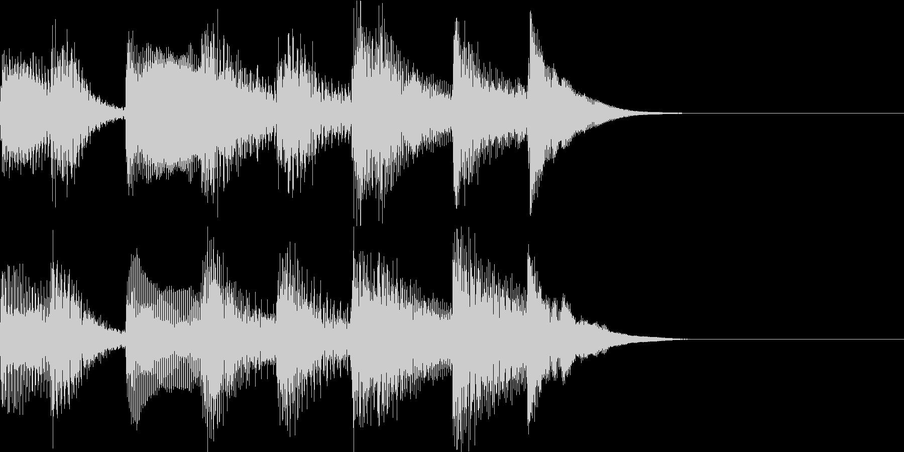 ダークで軽快なピアノのジングルの未再生の波形