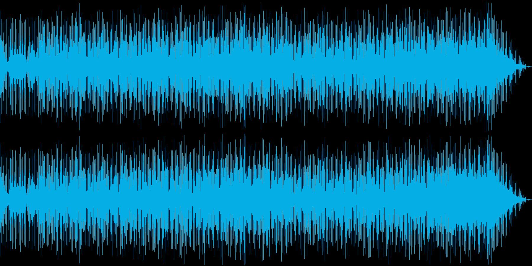 弾むテンポ感とシンセブラスのBGMの再生済みの波形