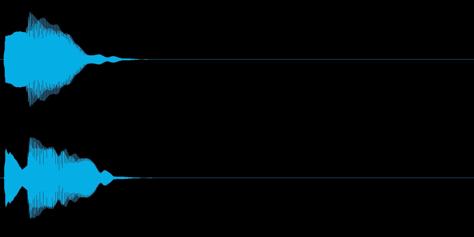 汎用 エレピ系04(小) キャンセル音の再生済みの波形
